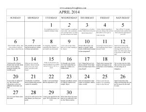 EM2WL.com April 2014 Calendar