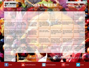 November Fiber Challenge Calendar