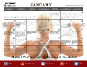 January 2015 Challenge Calendar