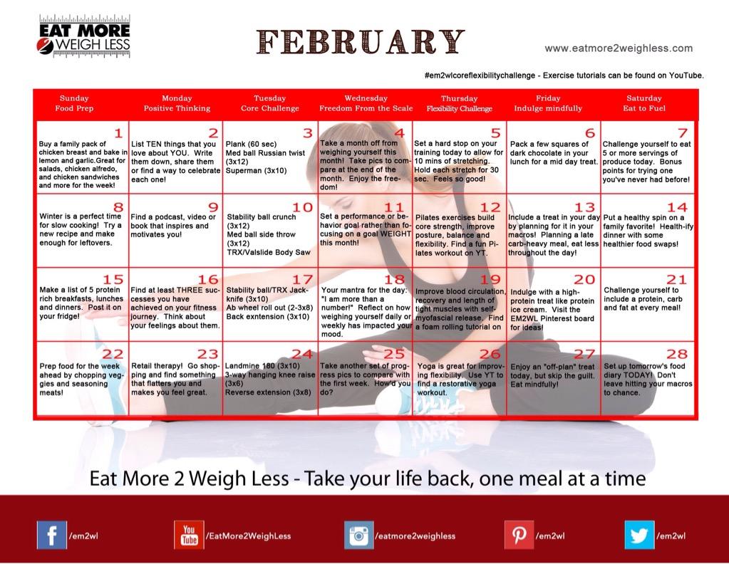 February 2015 Challenge: Core Strength & Flexibility