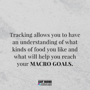 Tracking food without obsession to succeed in fat loss goals