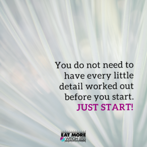 stop overcomplicating fat loss and just start