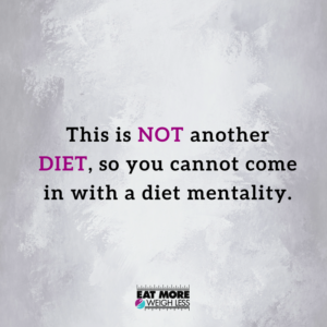 a shift in diet mentality and taking back your life